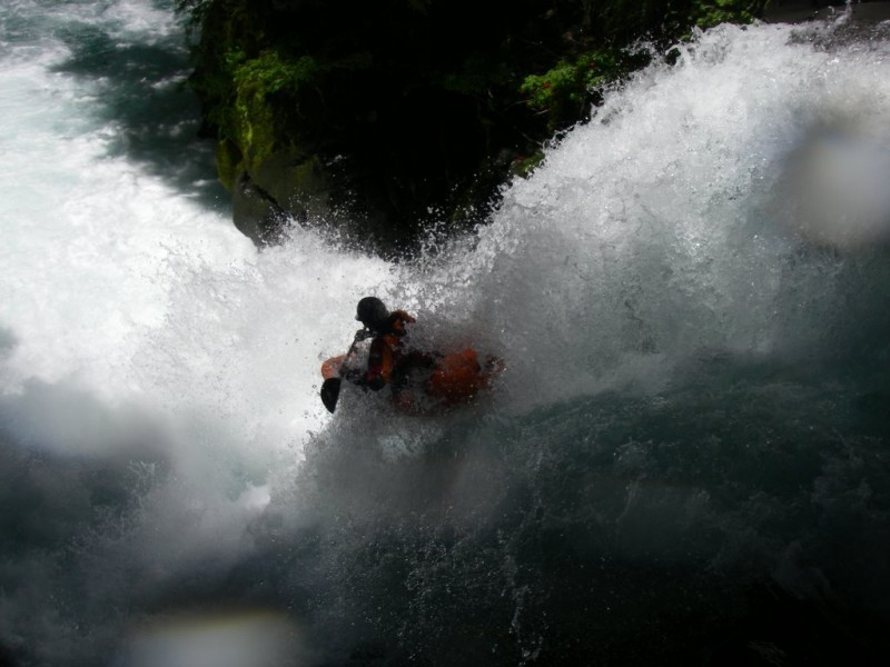Ian Garcia runs Boof to Swim on the Middle Palguin, Chile